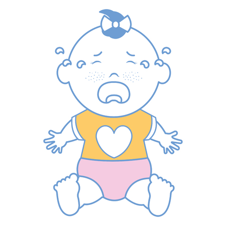 Baby clothes crying icon vector illustration design graphic Stok Fotoğraf - 81009873