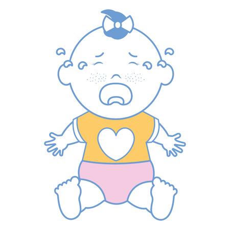 Bebé, ropa, llorando, icono, vector, Ilustración, diseño, gráfico Ilustración de vector