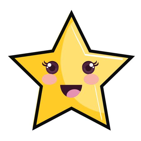 幸せな空の星のアイコン ベクトル イラスト デザイン グラフィック
