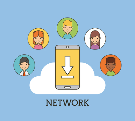 scenary: network people scenary icon vector illustration design graphic