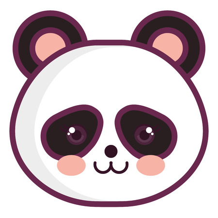 animal panda icon vector illustration design graphic Stock fotó - 81006055