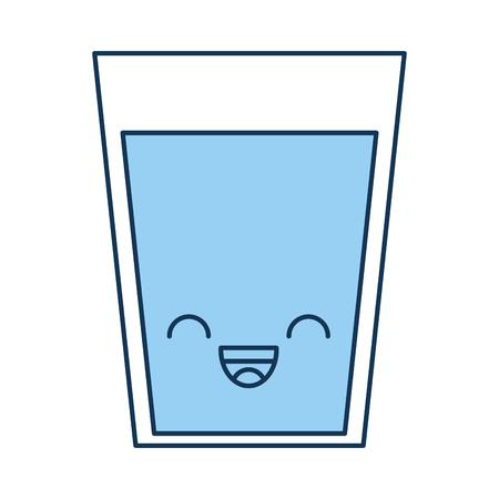 beverage glass   character vector illustration design Illustration