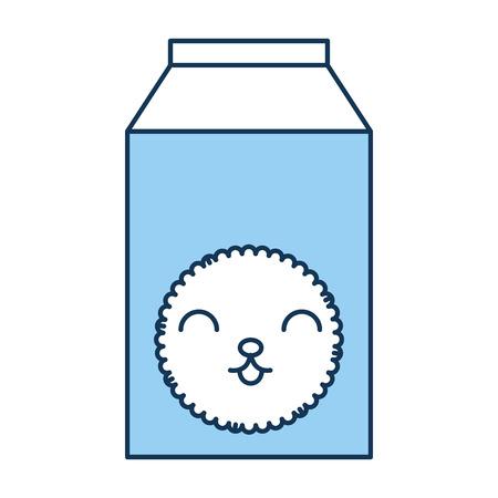 milk box kawaii character vector illustration design Illustration