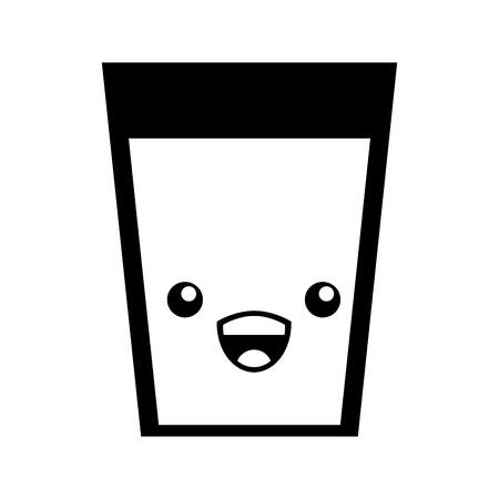 beverage glass character vector illustration design