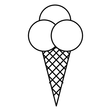 Zoete crème kinderen icoon vector illustratie ontwerp tekening