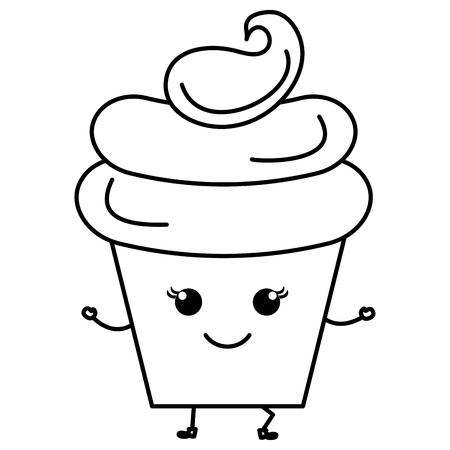 Süße Sahne Kinder Symbol Vektor-Illustration Design zeichnen Standard-Bild - 81009610