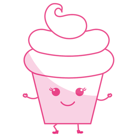 Sweet cream children icon vector illustration design shadow Illustration