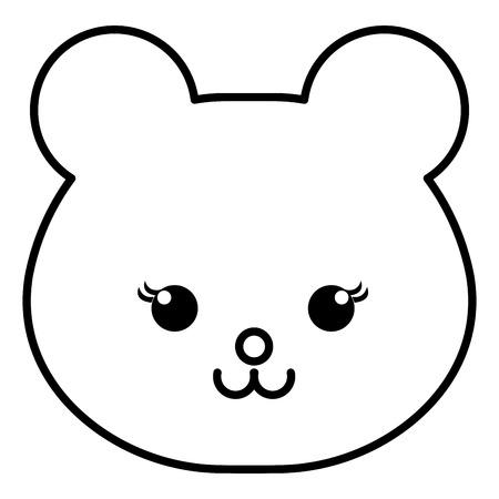 animal bear icon vector illsutration design draw Banco de Imagens - 81009956