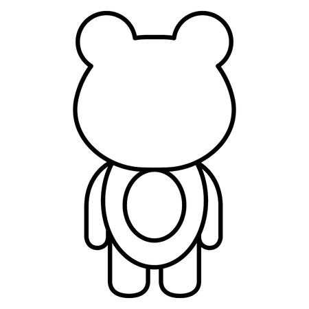 동물 원숭이 아이콘 벡터 illsutration 디자인 무승부