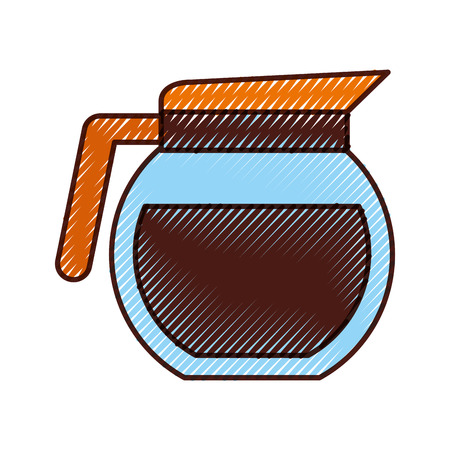 coffee teapot isolated icon vector illustration design