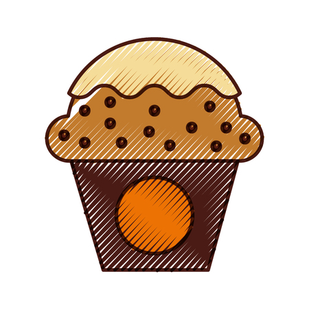 cup cake sweet icon vector illustration design Imagens - 81009986