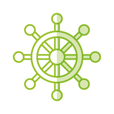 Timone di barca isolato icona illustrazione vettoriale di progettazione Archivio Fotografico - 81010274