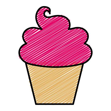 Sweet cream children icon vector illustration design doodle