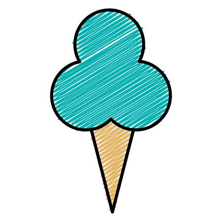 Süße Sahne Kinder Symbol Vektor-Illustration Design doodle Standard-Bild - 81010445