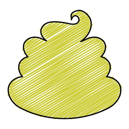 Zoete crème kinderen icoon vector illustratie ontwerp doodle Stock Illustratie