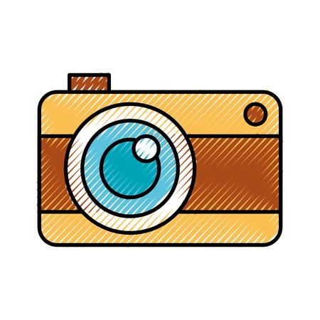 Fotografica fotografica isolato icona illustrazione vettoriale di progettazione Archivio Fotografico - 81010809