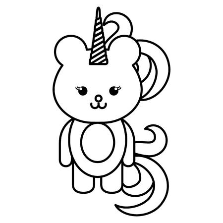 동물 곰 아이콘 벡터 illsutration 디자인 무승부 일러스트