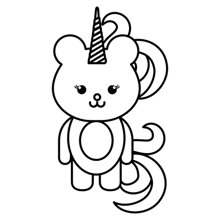 animal bear icon vector illsutration design draw