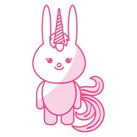 Animal rabbit icon vector illustration design shadow Ilustração