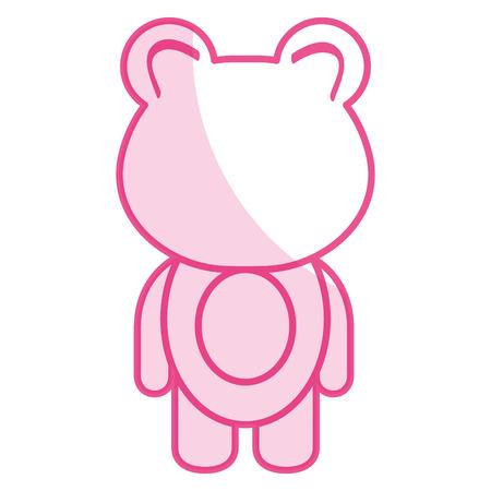 animal bear icon vector illsutration design shadow Stock Vector - 81010423