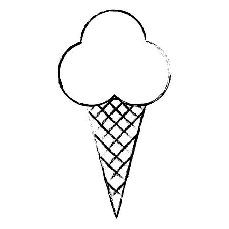 Süße Sahne Kinder Symbol Vektor-Illustration Design zeichnen Standard-Bild - 81010429