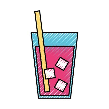 juice tropical fruit beverage vector illustration design