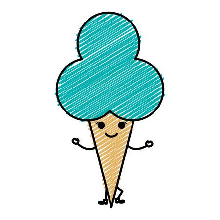 Süße Sahne Kinder Symbol Vektor-Illustration Design doodle Standard-Bild - 81010433