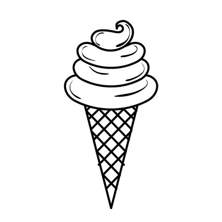 Süße Sahne Kinder Symbol Vektor-Illustration Design zeichnen Standard-Bild - 81010436