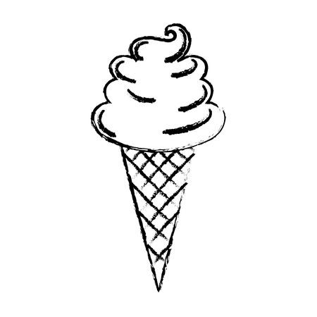 Süße Sahne Kinder Symbol Vektor-Illustration Design zeichnen Standard-Bild - 81010350