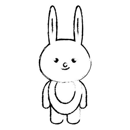 animal rabbit icon vector illustration design draw