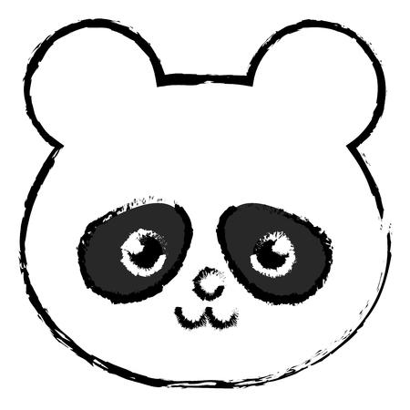 animal panda icon vector illustration design draw