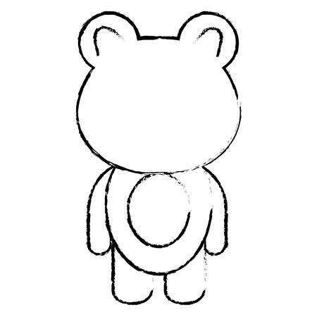동물 곰 아이콘 벡터 일러스트 디자인 무승부 일러스트