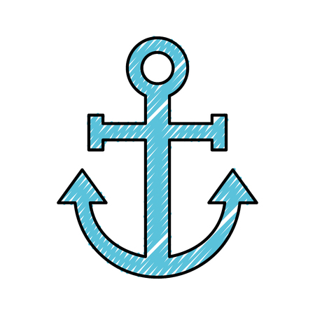 sail anchor isolated icon vector illustration design