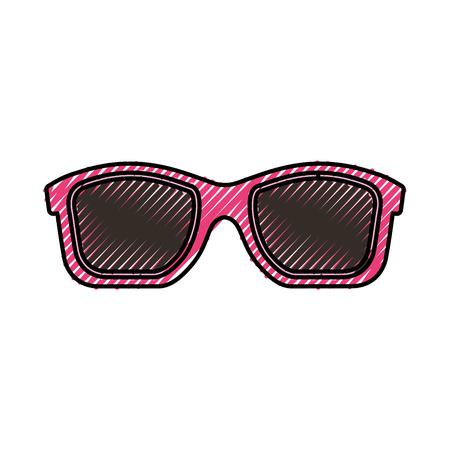 summer sunglasses isolated icon vector illustration design