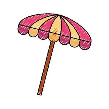 beach umbrella summer icon vector illustration design 版權商用圖片 - 81010650