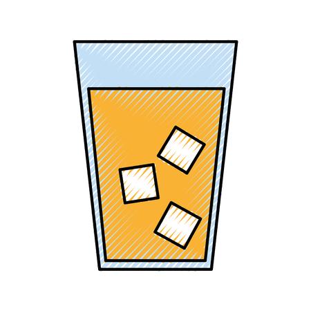 dinner party: juice tropical fruit beverage vector illustration design