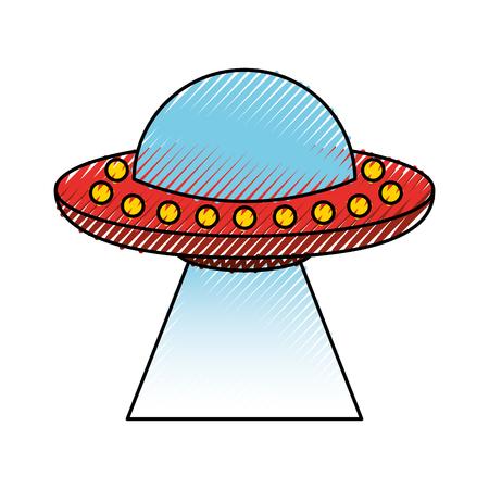 Onbekend vliegende object icoon vector illustratie ontwerp