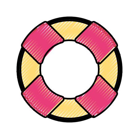 pictogram van de het pictogram vectorillustratie van de vlotterbadmeester het geïsoleerde