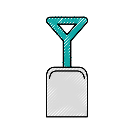 shovel beach isolated icon vector illustration design