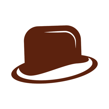Gentleman hat isolated icon vector illustration design Illustration