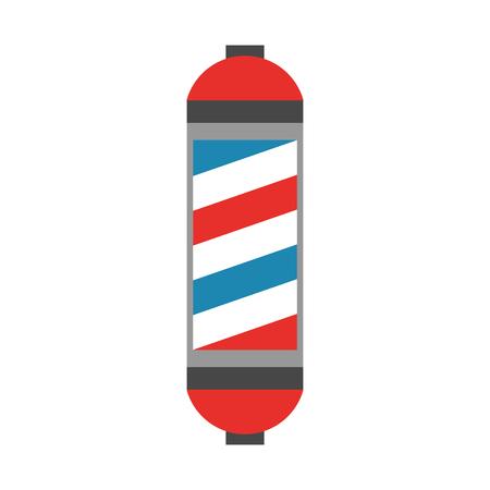 Barbershop label with stripes vector illustration design