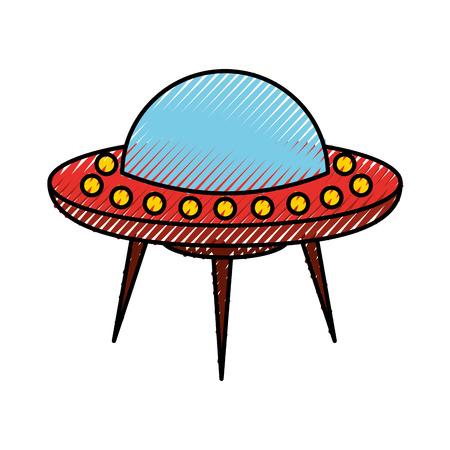 gravedad: objeto de vuelo no identificado icono diseño de ilustración vectorial Vectores