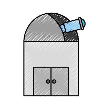 astronomical Observatory isolated icon vector illustration design Illusztráció