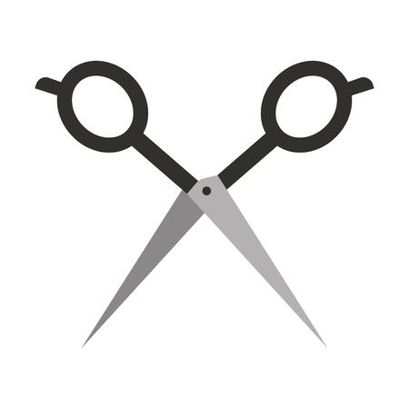 理髪店のシザー分離アイコン ベクトル イラスト デザイン