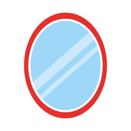 Kapper spiegel geïsoleerd pictogram vector illustratie ontwerp Stockfoto - 81009328