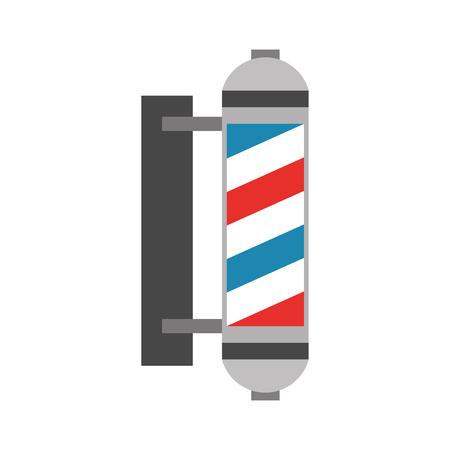 barbershop label with stripes vector illustration design Illusztráció