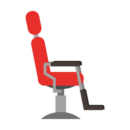 barbershop chair isolated icon vector illustration design