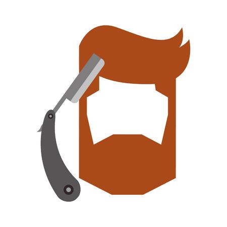 男性の脱毛スタイル ベクトル イラスト デザインとかみそりの刃  イラスト・ベクター素材