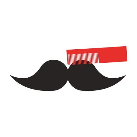 理髪店くし分離アイコン ベクトル イラスト デザイン 写真素材 - 81009717