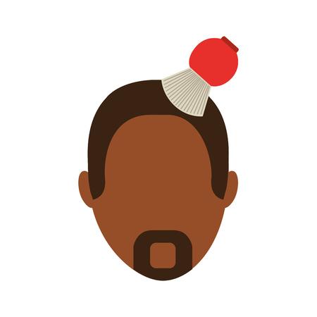 barbershop brush with head male vector illustration design